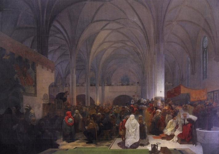 ベツレヘム礼拝堂で説教をするヤン・フス師 Master Jan Hus preaching at the Bethlehem Chapel