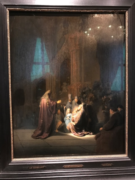 私が最も気に入ったレンブラントの1枚 『キリストの神殿奉献』
